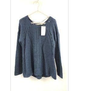 Soft Surroundings Wool Blend Open Knit Sweater